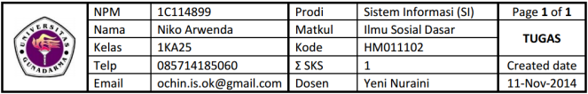 header tugas -- 1KA25-ISD-TUGAS-11112014-1C114899-NIKOARWENDA