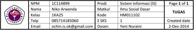 header tugas -- 1KA25-ISD-TUGAS-02122014-1C114899-NIKOARWENDA