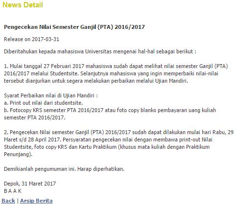 Seluk Beluk Komplain Nilai Kuliah Di Gunadarma Abu Hamzah Experiences