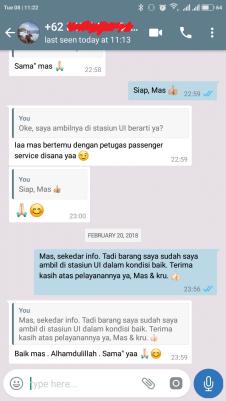 Chat passenger service